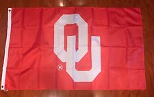 University Of Oklahoma Sooners RED 3x5 Feet Outdoor Flag w/Grommets Banner OU