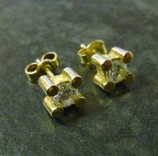 Goldohrstecker Bergkristall 333er Gold Ohrstecker 8 Karat Gelbgold Ohrringe GG