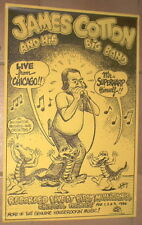 JAMES COTTON BLUES BAND 1986 Live Album Promo Poster 16x24 R. Crumb Style no cd