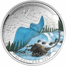 Canada 2017 Landscape Illusions Wildlife #5 Snowy Owl $20 Pure Silver Proof
