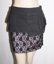Sweetacacia Designer Black Lace Peplum Skirt Size 12-M BNWT #SK75