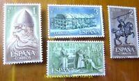 EBS Spain 1962 - El Cid (Rodrigo Díaz de Vivar) - 1334-1337 MNH** cv $17