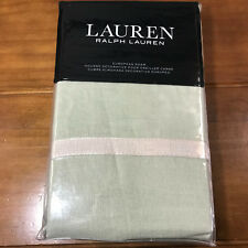 New Ralph Lauren Lakeview Solid Euro Pillow Sham Light Lt Green Linen