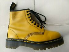 DOC DR MARTENS YELLOW JARDON BOOTS MADE IN ENGLAND RARE VINTAGE UNISEX 6UK W8 M7