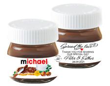 10 Mini Nutella Jar Sticker Labels Wedding Favour Personalised Spread the love