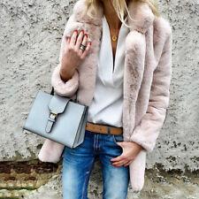 Women Winter Warm Faux Fur Party Outwear Long Fleece Lady Jacket Coat Parka *
