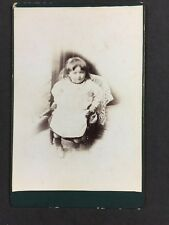 Victorian Cabinet Card Photo: Unknown Young Girl In Child's Chair