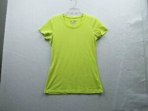 Under Armour  Heat Gear Womens Yellow Top Size Medium, Ex Cond!