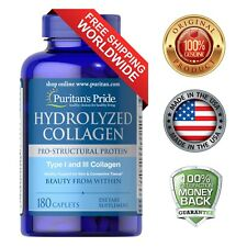 Puritan's Pride Hydrolyzed Collagen 4000 mg - 180 Caplets Protein Supplement