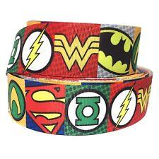 "Grosgrain Ribbon 5/8"", 7/8"", 1.5"" , 3"" Hero Heroes Batman Superman S7 Printed"