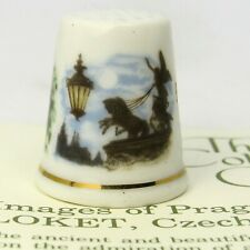 THIMBLE COLLECTORS CLUB, IMAGES OF PRAGUE BY LOKET, CZECHOSLOVAKIA