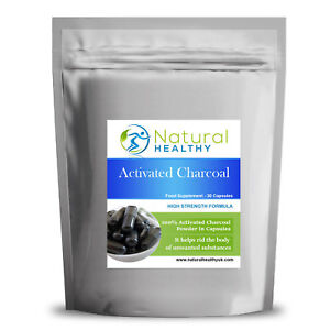 30 Activated Charcoal High Quality - Natural And Healthy UK Diet Supplement