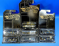 Mattel Hot Wheels 50 th  Black & Gold / Auswahl an Cars