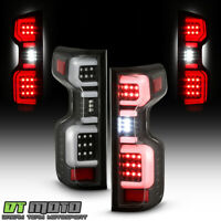 2019-2020 Chevy Silverado 1500 [LED Model] Black Full LED Tail Lights Lamps Pair