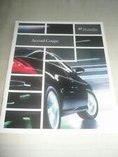 Honda Accord Coupe range brochure 2007 USA market