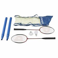 MaxiMondo Badminton Donnay Rasenspiel Gartenspielzeug Spielzeug Rot Blau Schwarz