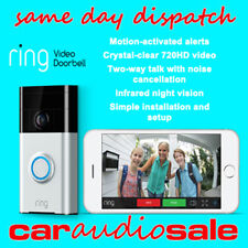 RING VIDEO DOORBELL MOTION ACTIVATED 720HD VIDEO 2-WAY TALK CAMERA HOME SECURITY