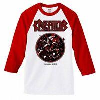KREATOR Pleasure To Kill Raglan 3/4 Long Sleeve T SHIRT S-2XL New Official