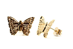 9ct Gold Butterfly Studs Earrings Gift boxed Made in UK