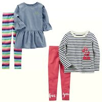 New Carter's 2-Pc. Top & Leggings Set  Little & Big Girls MSRP: $30.00 - $38.00