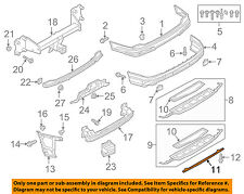 AUDI OEM 17-18 Q7 Rear Bumper-Lower Trim 4M08075419B9