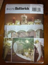 Butterick Pattern B4370 Victorian Christmas Mantle Cloth Stocking Tree Skirt NEW