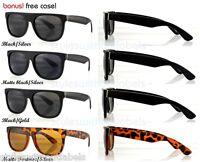 80s Super Retro Flat Top Frame Aviator Style Sunglasses MATTE DARK Smoke Lens
