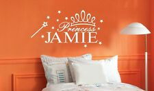 Princess personalized custom name quote vinyl lettering words decal/sticker