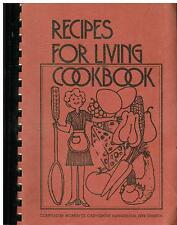 *CARY *GROVE IL VINTAGE *EV. FREE CHURCH *ETHNIC COOK BOOK *RECIPES FOR LIVING