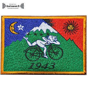ॐ AUFNÄHER PATCH goa psy bicycle tRiP Albert Hofmann LSD Acid 1943 25 604 ॐ