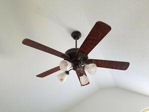"52"" Ceiling fan w/12"" downrod AC-552 Traditional Oil Rubbed Bronze? 4-light"
