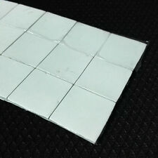 2x 25*25*2.5mm Silicone Thermal Pad Mat with 3M Adhesive Sticky For GPU IC Chips