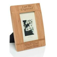 "Personalised 6""x4"" Natural Wood Photo Frame Laser - Engraved."