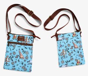 "Loungefly Disney Winnie The Pooh Passport Crossbody Bag Purse ""White Daisies"""