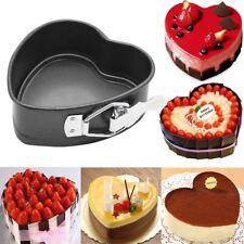 Heart-Shaped Cake Tin Non Stick Spring Form Loose Base Baking Pan Tray DIY  YA9