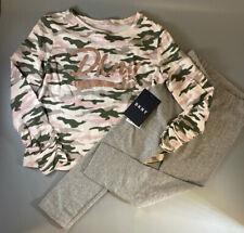New  DKNY girls designer camouflage long sleeve top leggings set 2 - 6 years