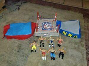 VINTAGE LOT 1985 AWA REMCO WRESTLING RING custom Mats and 7 custom figures
