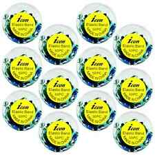 12 Packs Poly-Elastic Hair Rubber Bands - Xtra Wide 600 pcs - Blue _144-15A