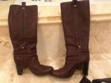 Dolce and Gabbana Dark Brown Harness Boots Size 38 Gold Hardware and Straps
