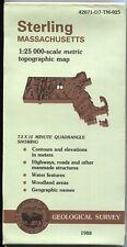 USGS Topographic Map Massachusetts STERLING 1988 25K
