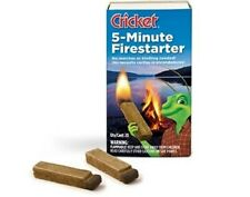 Cricket 5-Minute Firestarter for BBQ's, Camping, Fireplaces - 1 Box of 20