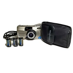 Olympus Stylus Zoom 80 Wide DLX | Film Tested and works! 3 batteries, case