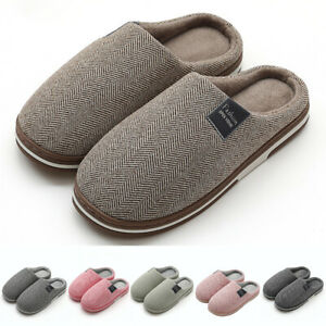 Unisex House Slippers Indoor Memory Foam Cashmere Cotton-Blend Knitted Autumn AU