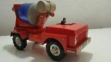VINTAGE GERMAN TRUCK TOY FRICTION MAMMUT PLASTIC METAL LARGE CEMENT MIXER
