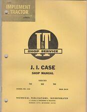 Ji Case C 20 Series 730 830 930 Iampt Shop Service Manual