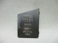 Vintage Drill Index Huot 61 80 Number Drill Bit 20pc Set Wire Gauge Orifice
