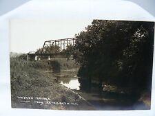 Elizabeth Illinois - Weston Bridge REAL PHOTO postcard - ARTURA