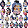 MenWomen 3D Print Anime Sailor Moon Casual Hoodie Sweatshirt Jacket Pullover Top