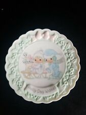 Precious moments Mini Plate 1996 Holly Day wishes