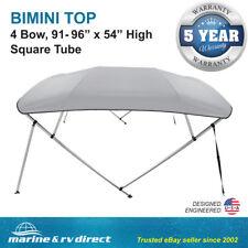 "Bimini Top Boat Cover Square Tube 4 Bow 54""h 91-96w 12 ft. L Gray"